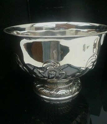 Silver Punch or Fruit Bowl, London 1901