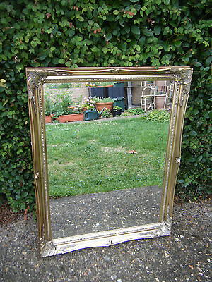 Antique Vintage Repro Quality Ornate Gilt Framed Bevelled Edge Wall/Hall Mirror