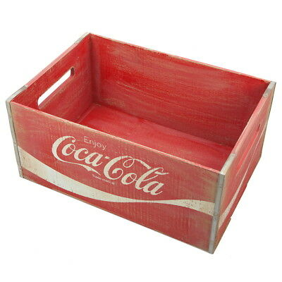 Coca-Cola Full Wood Crate Vintage Style Home Decor