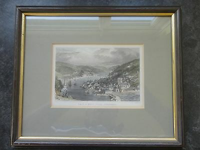 Antique East And West Looe Cornwall Original Engraving