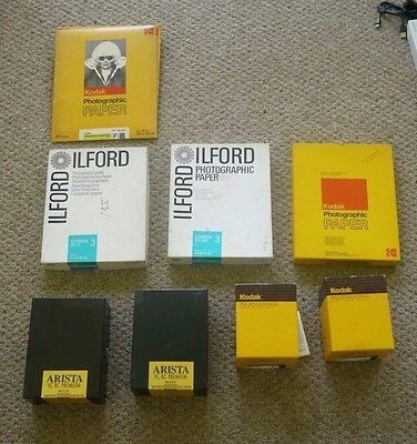 Ilford Kodak Arista  Black & White Photographic Paper LOT