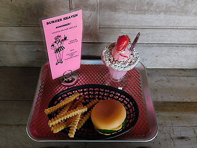 Car Hop Tray With Food '50's Style