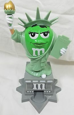 M&M Collectible STATUE OF LIBERTY Ms. Miss Green Candy Dispenser EUC