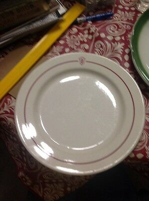 """university of indiana plate china homer laughlin 9"""" in ind."""