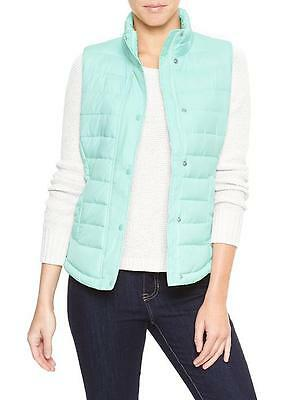 Gap Womens Puffer Quilted Vest Light Turquoise Blue S M L  NWT