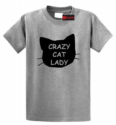 Crazy Cat Lady Funny T Shirt Cat Lover Kitten Meow Holiday Gift Graphic Tee