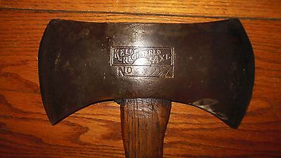 Vintage Embossed KELLY REGISTERED DOUBLE Bit Axe / COLLECTOR AXE / TRUE TEMPER