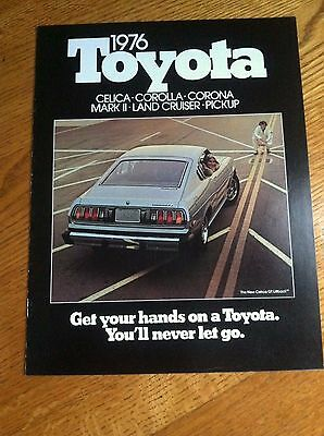1976 Toyota Celica, Land Cruiser Sales Brochure, Original Item Not A Re-Print