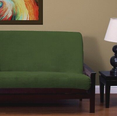 New Solid Hunter Green Chenille Full Size Futon Cover Made In Usa Super Soft