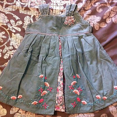 Monsoon Baby Girls Party Dress Size 0 (6 - 12 Months)