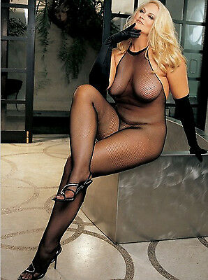 Plus Size One Size Queen Black Halter Bodystocking Lingerie SOH-X90001