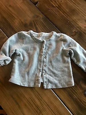 JCREW CrewCuts Baby Gray Button Up Cardigan Girls Size 12/18 Months