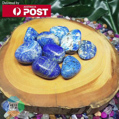 1x Natural Healing Lapis Lazuli Tumbled Stone For Communication Friendship