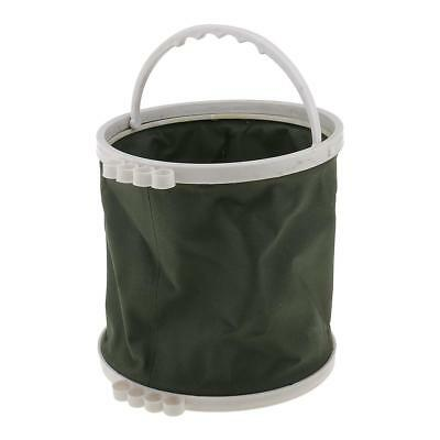 Portable Canvas Wash Pen Bucket Painting Brush Tools Holder Fishing Bucket
