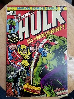 Reprint HULK 181 WOLVERINE Custom Made Cover with 1980's Original Reprint