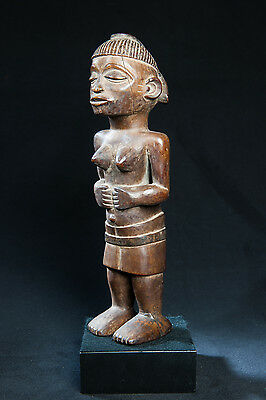 Yaka Female Figure, South Western Congo, African Tribal Arts, Sculpture