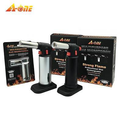 A-ONE GAS TOOL Professional Culinary Blow Torch-Micro Butane Torch-Creme Brulee
