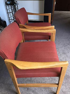 Set Of Two Retro Vintage Chairs