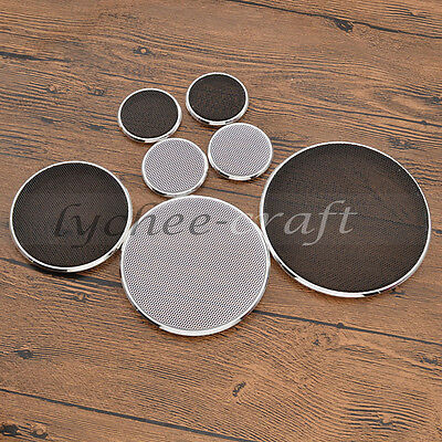 4Size Car Speaker Tweeter Cover Net Circle Decorative Protective Dustd Grille 2X