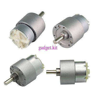 12V 3.5/15/60/100/120/300RPM DC geared motor High torque Metal Gear motor DIY HP