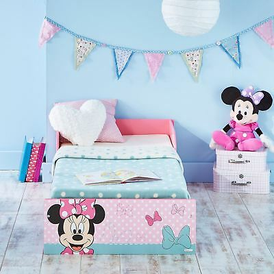Pink Minnie Mouse Official Toddler Bed Suitable For 18 Months + New Free P+P