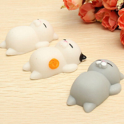 Cute Soft Cat Squishy Healing Squeeze Fun Kid Toy Gift Stress Reliever Decor 1pc