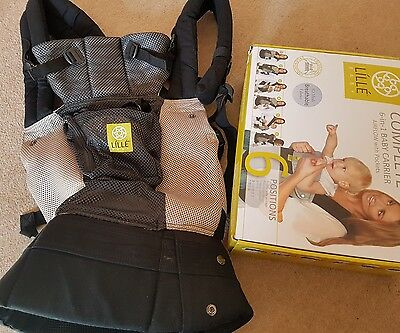LÍLLÉ / LILLE BABY COMPLETE 6-IN-1 BABY CARRIER  Grey / Silver - AIRFLOW