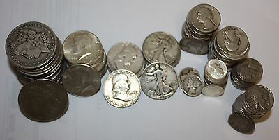 Large US Coin Lot Morgan Peace Dollars, Silver Halves, Washinton Quarters, MORE!
