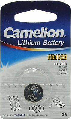 2X CAMELION CR1620 3V Lithium Battery Button Coin Cell DL1620 Car Key Fobs Watch