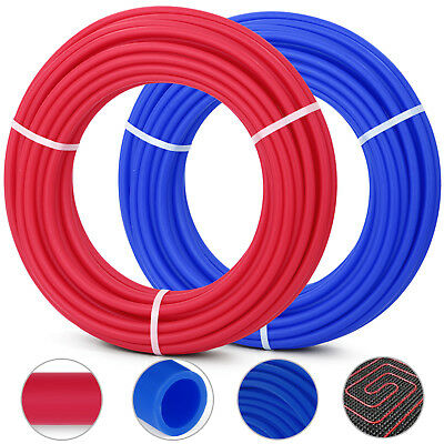 """2 Rolls 1/2"""" x 100ft PEX Tubing Blue and Red Potable Water"""