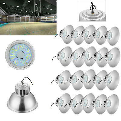 20x 100W LED High Bay Warehouse Light Bright White Fixture Factory Building Lamp