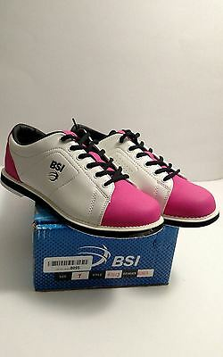 BSI Women's shoe White/Pink/Black Size 7 New with Box Free Priority Shipping