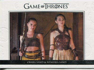 Game Of Thrones Season 6 Relationships Chase Card DL34 Obara Sand & Nymeria Sand