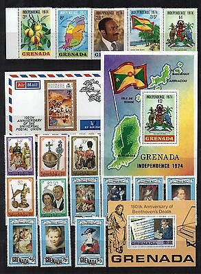 GRENADA STAMP Collection QEII  Unmount Mint 1974-78 Ref:OR5