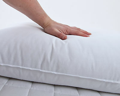 1000gsm Firm Support Pillow Anti Allergenic Extra Filled Hotel Quality UK Made
