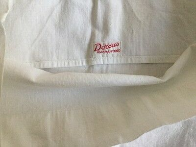 Vintage Dorcas Bolster Pillowcase White