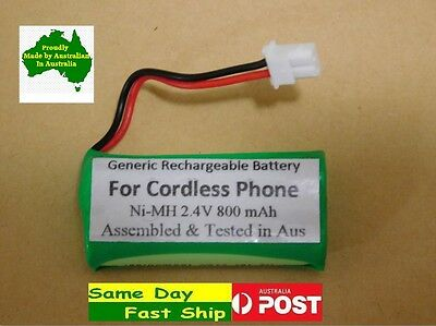 Generic 2.4V 800mAh Ni-MH battery for TELSTRA cordless VTHCH73C02 12950 12705 AU