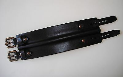 bracciale pelle cuoio Colin Farrell style leather cuff wristband with buckles