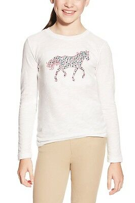 Ariat Girls Embroidered Pony Top