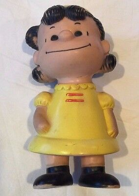 "United Feature Syndicate Peanuts Lucy Viny Doll Vintage Version 9"" tall"
