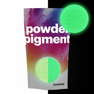 Hemway Glow in the Dark Powder 100g Colour Luminous Phosphorescent Pigment