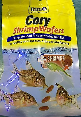Tetra Cory Shrimp Wafer Fish Treat Complete Food Catfish Pleco Aquarium Tank 42g