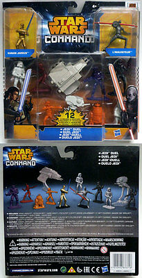 Star Wars Command Jedi Duel 12 Figures And Vehicles Hasbro A8945