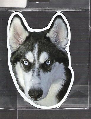 Siberian Husky 4 inch face magnet for car or anything metal     New