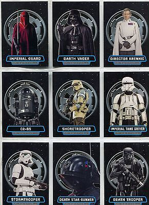 Star Wars Rogue One Series 2 Complete Villains VOTGE Chase Card Set VG1-10