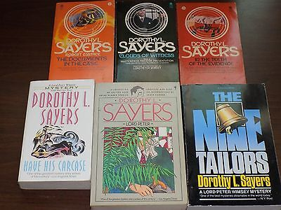 Lot of 6 books by Dorothy Sayers - paperback - Lord Peter Wimsey,...