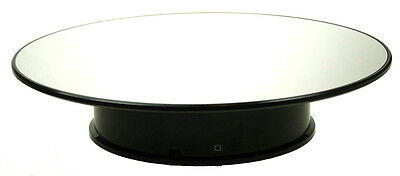 Large Rotary Display Stand - Approx 12 Inch 30.5Cm With Mirrored Surface