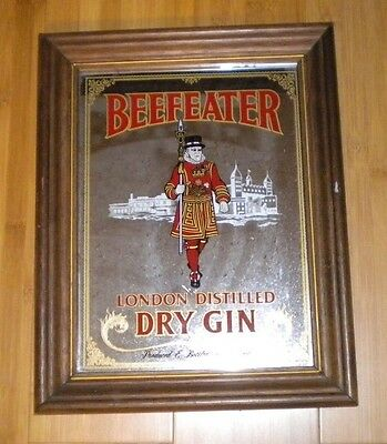 """Beefeater Gin Mirror 15"""" high x 12"""" wide"""