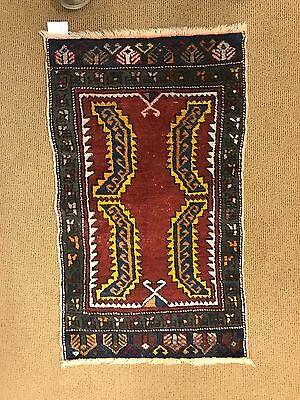 antique hand knotted rugs  anatolian Great Condition art oriental rug rare