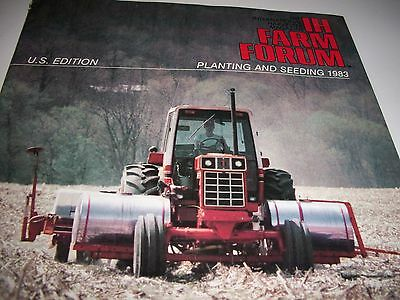 old 1983 IH Farm Forum magazine Planting and Seeding,International Harvester OH